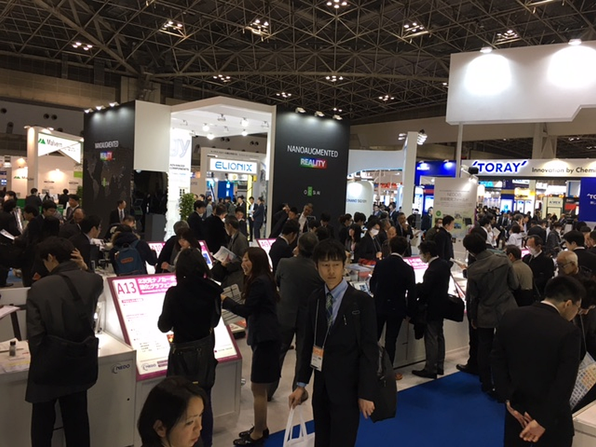 Full house at the NANOSENSORS™ booth 4s-27 at the nano tech 2017, Tokyo, Japan